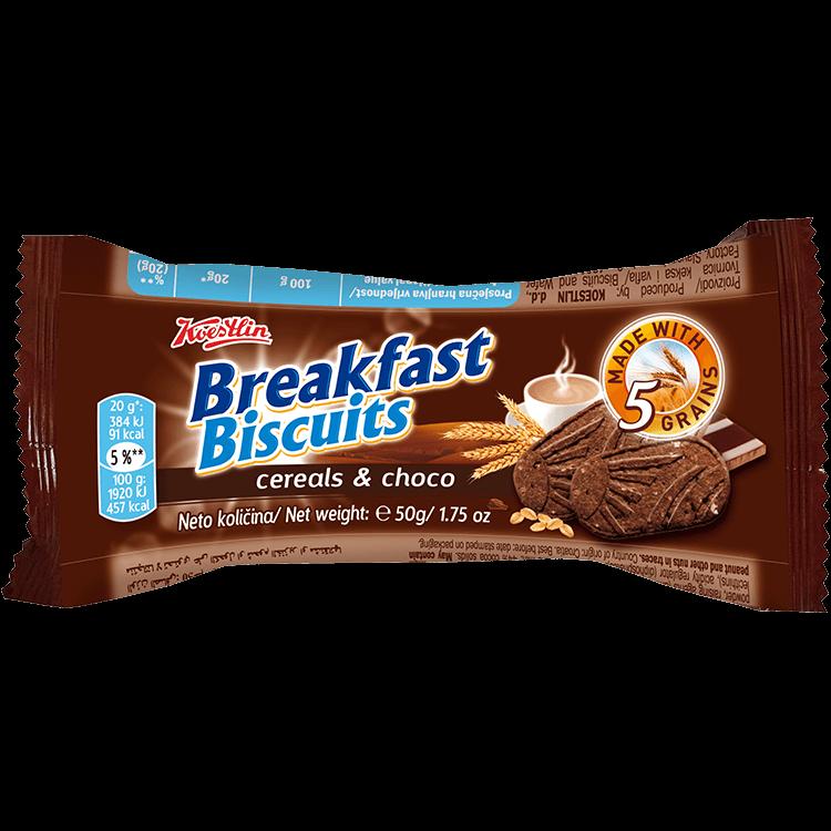 Breakfast biscuits - Cereals & Choco(''Biscotti da colazione – Cereali e cioccolato'')