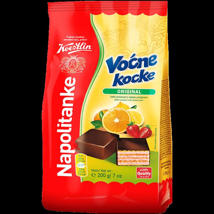 Napolitanke Voćne kocke original(''Wafer cubetti di frutta originali'')