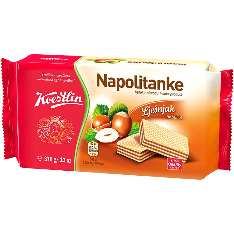 Napolitanke Lješnjak (''Wafer nocciola'')