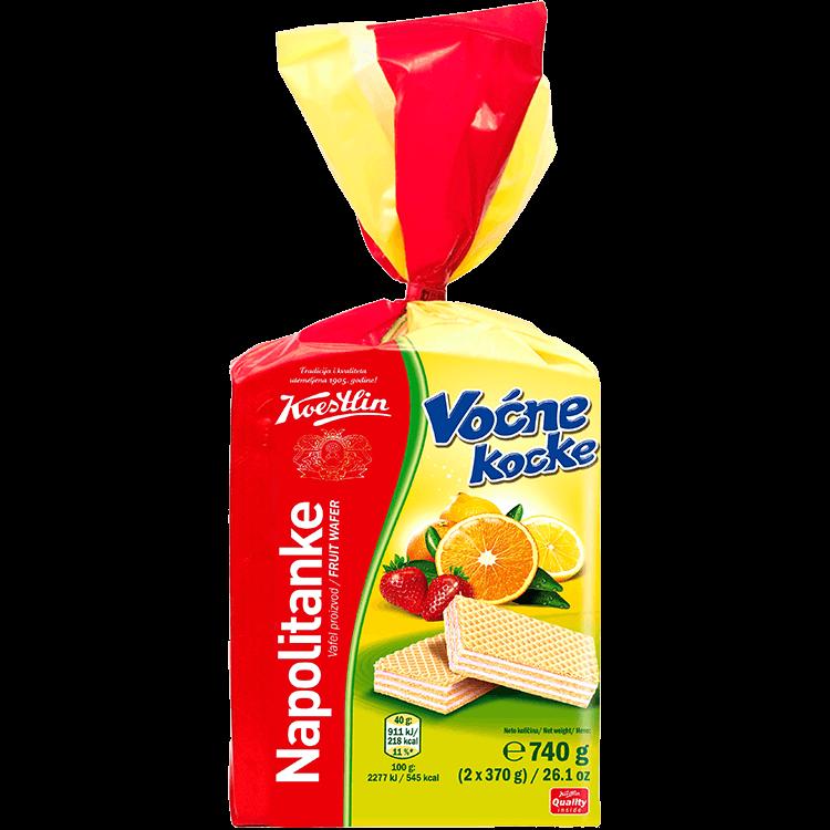 Napolitanke Voćne kocke(''Wafer cubetti di frutta'')